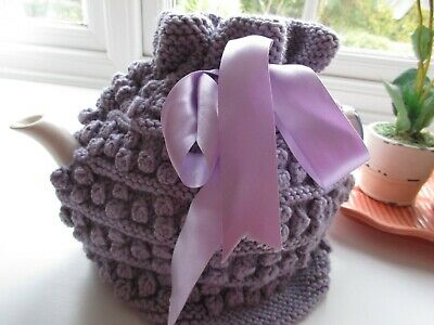 Hand Knitted Bobble and Ridge Tea Cosy