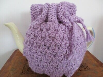Hand Knitted Blackberry Stitch Tea cosy