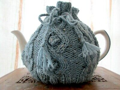 Hand Knitted Cable Tea cosy