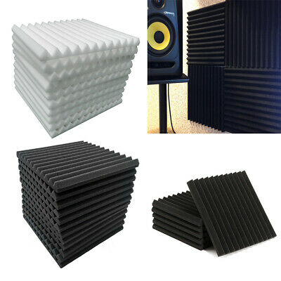 12/24pcs Acoustic Panels Soundproofing Foam Anti-Sound Wall Tile Absorption Pad