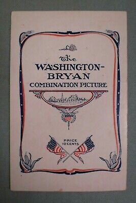 1908 George Washington/William Jennings Bryan Combination Picture,Political