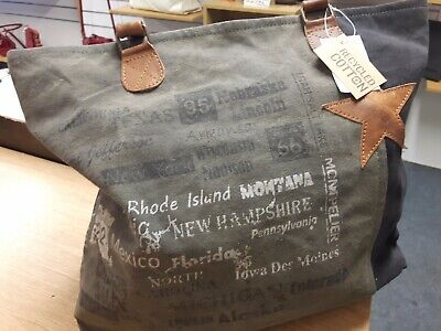 Bolla Bags US STATES ZipTop Recycled Canvas Shopper **Plus Special Free Gift**