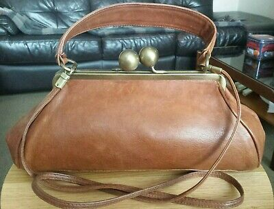 RETRO RARE OUTSTANDING DESIGNER vintage MARTINI  OSVALDO Italy Tan Brown Bag