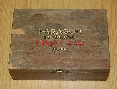 Vintage Antique Paragon Household Firstaid Ambulance Box & Medical Contents