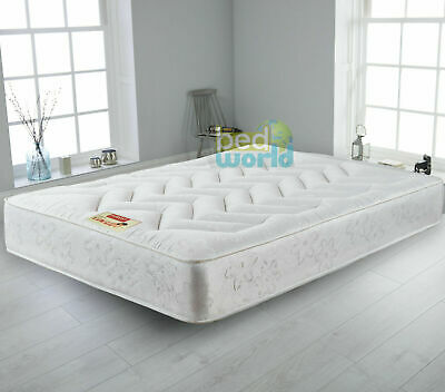 Quilted Orthopeadic Memory Foam Sprung Mattress 3ft single 4ft 4ft6 Double 5ft