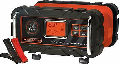 BLACK+DECKER Fully Automatic 15 Amp 12V Bench Battery Charger/Maintainer