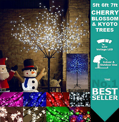 Led Cherry Blossom Tree Christmas M/Function Lights Decoration Pre-Lit Outdoor