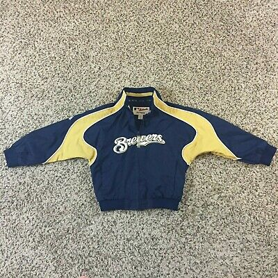 Milwaukee Brewers Climate Full Zip Jacket Outerstuff MLB Youth 8-20