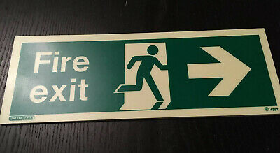 Jalite AAA Fire Exit Sign Right 435T 340x120mm