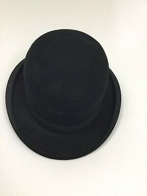Vintage Black Bowler Hat Large