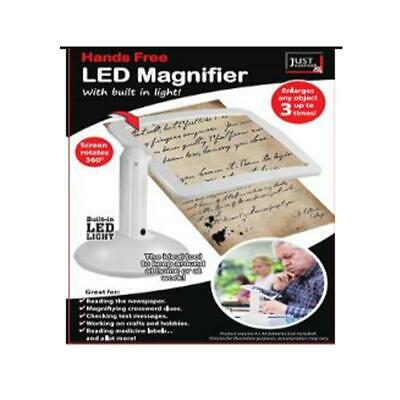 LED Magnifier Glass with Stand and built in light
