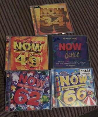 Now Thats What I Call Music CD Bundle Joblot 5 Albums