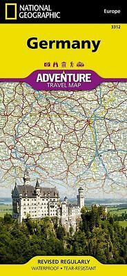 National Geographic Germany Europe Adventure Travel Road Map 3312