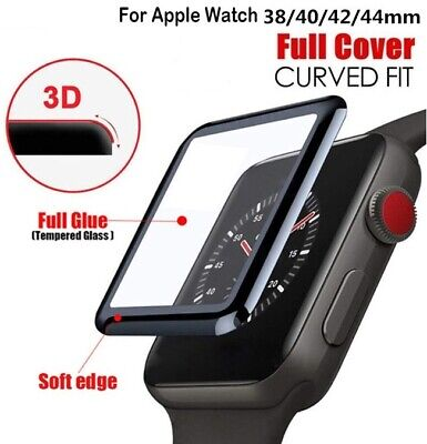 Apple Watch 5 4 3 2 1 Tempered Glass Full Screen Protector 38/42/40/44mm