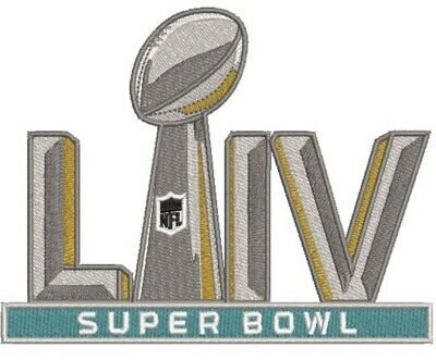 "SUPER BOWL 54 LIV Champions 5"" Embroidered Patch 2019 2020 Iron On SHIP FREE!!!"