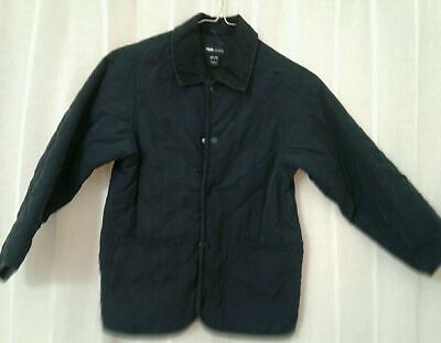 Girls Or Boys H & M Navy Blue Quilted Barn Jacket Coat 6-7,10-11, 11-12