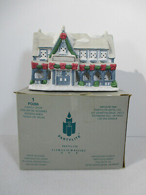 Christmas Holiday Small Town Village Ceramic Building Blue