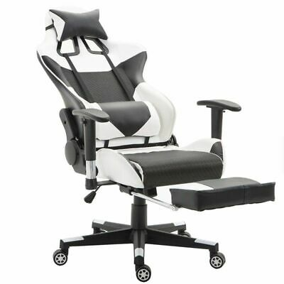 High Back Computer Gaming Chair With Lumbar Support Footrest For Gamers