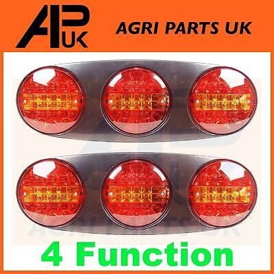 2x 12V LED Trio Rear Tail Light Lamp Ifor Williams Brian James Flatbed Trailer