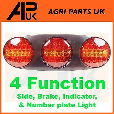 12V LED Trio Rear Tail Light Lamp Ifor Williams Brian James Flatbed Trailer