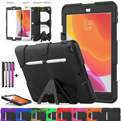 Heavy Duty Stand Case Cover Built-in Screen Protector For iPad 7th Gen 10.2 2019