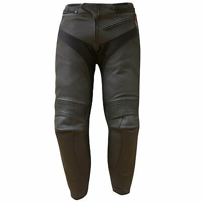 Merlin Leo Leather Motorcycle Pants Black UK 32