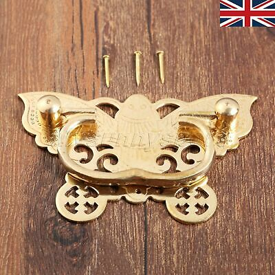 UK STOCK Pure Copper Bronze Brass Horizontal Pull Handles Drawer Door Wooden Box
