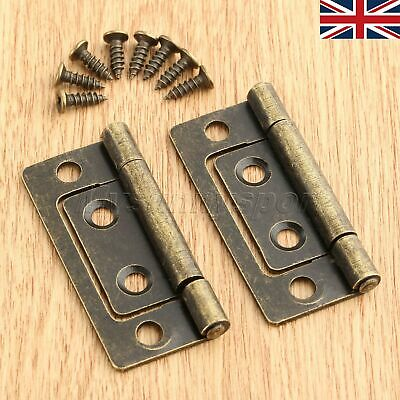 UK STOCK Antique Bronze Cabinet Door Hinge Furniture Wardrobe Cupboard Jewelry