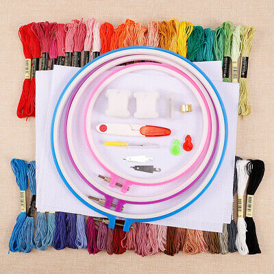 50 Cross Stitch Cotton Sewing Skeins Embroidery Thread Floss Bobbin Mix Color
