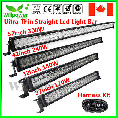 Uitra-thin 22/32 42/52inch LED Work Light Bar for offroad Truck JEEP Car SUV ATV