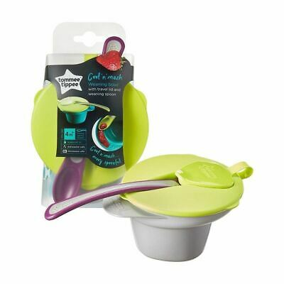 Tommee Tippee Weaning Cool & Mash Weaning Bowl 4m+ Green/Grey
