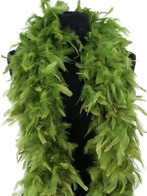 Luxury Forest Green Feather Boa – 80g -180cm