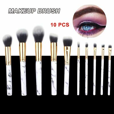 10 Professional Makeup Brush Set Foundation Blusher Cosmetic Make-up Brushes GN