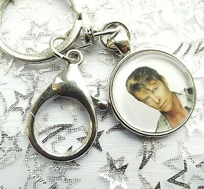 David Bowie Singer Photo Key Ring Lobster Claw & Swivel Chain With Gift Box