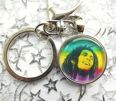 Bob Marley Singer Photo Key Ring Lobster Claw & Swivel Chain With Gift Box
