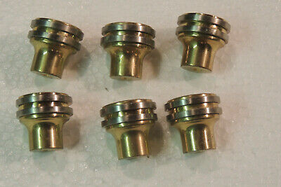 Lot of 6 pcs Vintage  Cabinet Solid Brass two tone Drawer Handle Knob Pull