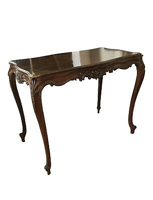 Antique American Rococo Style Carved Table