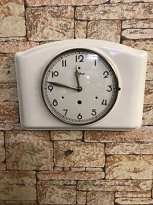 Junghans Vintage Ceramic German Wall Clock C.1950-59