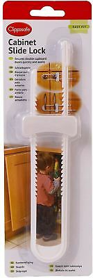 Clippasafe SLIDING CUPBOARD/CABINET LOCK Baby/Child Safety Proofing - BNIP