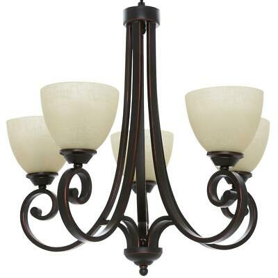 Hampton Bay 3 Light Oil Rubbed Bronze Chandelier with