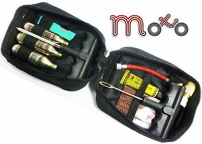 Moto Motorbike Tubeless Flat Tyre Car Emergency Puncture Repair Kit With Pouch