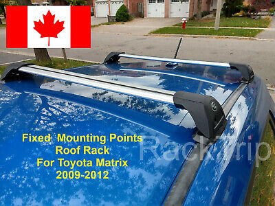 Aerodynamic Lockable Fixed Mounting Points Toyota Matrix 2009-2012 Roof Rack