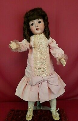 Antique German Revalo Bisque Socket Head Doll American Jointed Doll Body 26 in.