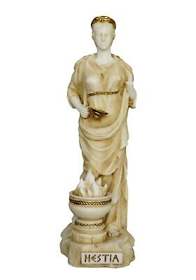 Hestia Alabaster aged statue - Greek Goddess of the Family and the State