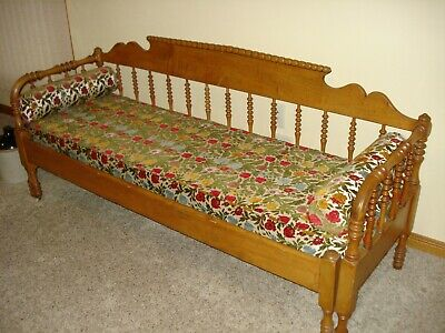 Vintage Antique Daybed Jenny Lind Style Primitive Victorian Antique Galena Dayb