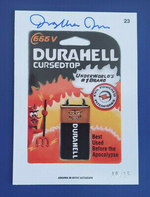 Durahell #23 Wacky Packages 2015 Topps Card//Sticker