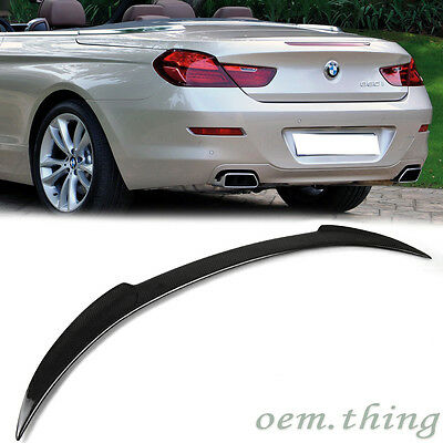 Carbon For BMW F12 6 Series 2DR Convertible V Style Trunk Boot Spoiler 12-17