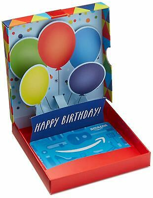Amazon Gift Card $75 in a Birthday Pop-Up Box, Gift Receipt with Message Option