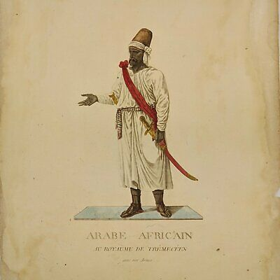 African Arab - Hand coloured print
