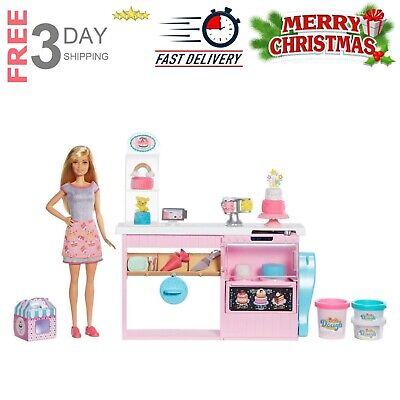 Barbie Baker Doll Cake Decorating Play Set Blonde Kids Toy Birthday Holiday Gift
